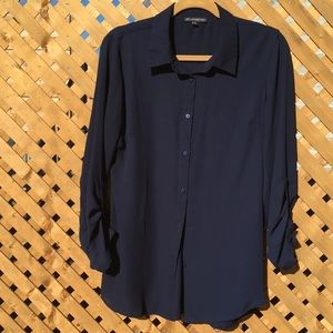 EUC Adrianna Papell collared button down shirt